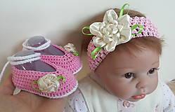 Detské doplnky - Kvetinkový set ružový - 6489867_