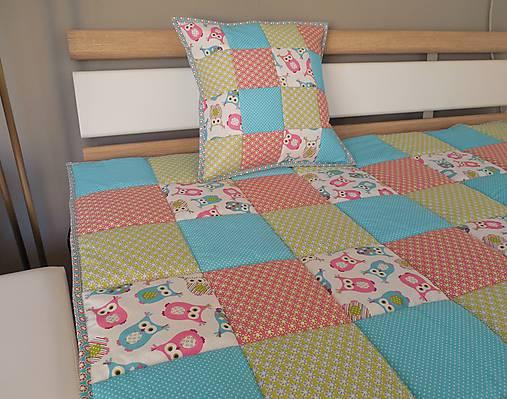 d648b0d59dd0b Prehoz na posteľ tyrkysová / sovička 140x200cm / Mackawork - SAShE ...