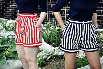 Nohavice - Apartní kraťásky (ne pruhované) - 6490648_