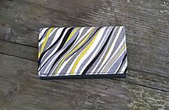 Peňaženky - Pestrá peňaženka na 8 kariet,koženka+bavlna - 6489255_