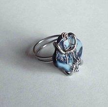 Prstene - oceľ s perleťou -prsteň - 6491073_