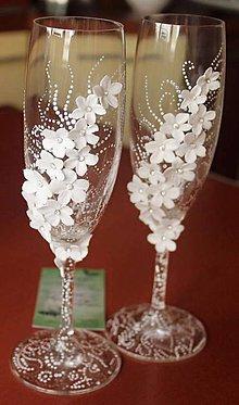 Darčeky pre svadobčanov - Svadobné poháre - 6490374_