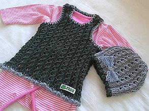 Detské oblečenie - Vesta s čiapkou pre malú žabku - 6490349_