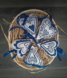Dekorácie - Srdiečko modré - 6490400_
