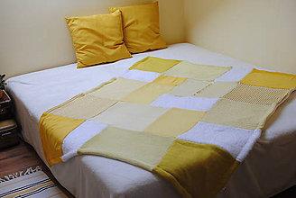 Úžitkový textil - Žltá deka - 6490171_