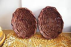 Dekorácie - Mahagónové vajíčkové minipodnosy - 6490102_