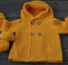 Detské oblečenie - Sveter s kapucňou Slniečkový - 6494648_