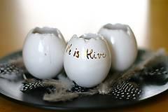 Dekorácie - Set 3 vajíčok - svietnik, váza, korenička /platina, zlato - 6493310_