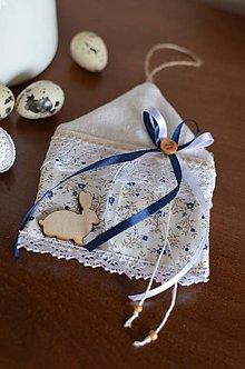 Dekorácie - Malý modrý domček - 6494555_