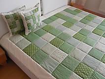 prehoz na posteľ  olivovo zelený 200x200 cm