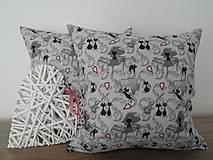 - vankúš 40 x 40 cm šedý - mačka - 6493807_