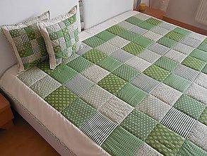 Úžitkový textil - prehoz na posteľ  olivovo zelený 200x200 cm - 6493642_