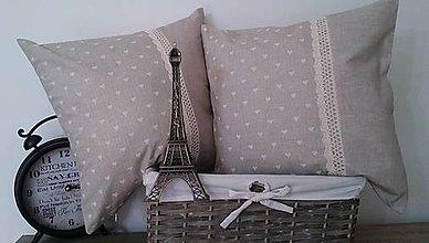 Úžitkový textil - vintage vankúš so širokou krajkou - 6494249_