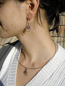Sady šperkov - fialový set -  ametyst v kruhu - 6495328_