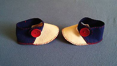 Topánočky - Capačky trikolora - 6493505_