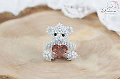 Kľúčenky - Lovely Bear - blush rose - 6495803_