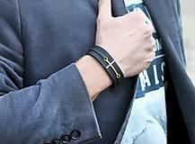 Šperky - Kožený ochranný náramok BELIEVE - 6494916_