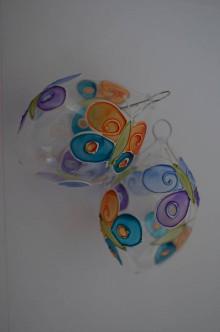 Dekorácie - Kraslica zo skla - motýľ 2 - 6494208_