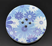 Galantéria - Drevený gombík 4cm s potlačou - 6492622_