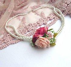 Náhrdelníky - Perličkový vintage náhrdelník - 6495164_