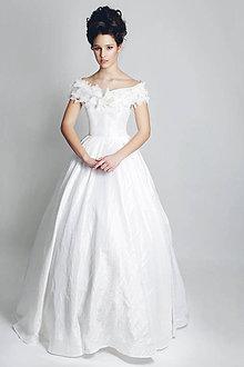 Šaty - Svadobné šaty Biela Sedmikráska - 6498981_