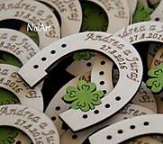 Svadobné magnetky Podkovy