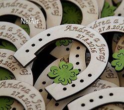 Darčeky pre svadobčanov - Svadobné magnetky Podkovy - 6498320_