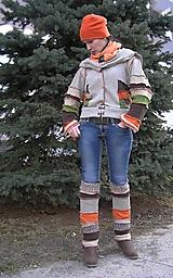 Kabáty - LEL bundosvetrík a štucne - 6499108_