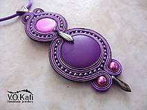 Náhrdelníky - -15% Lizette - fialový sutaškový prívesok - 6497992_
