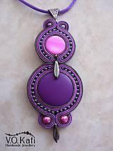 Náhrdelníky - -15% Lizette - fialový sutaškový prívesok - 6497994_