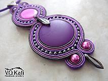 Náhrdelníky - -15% Lizette - fialový sutaškový prívesok - 6497995_
