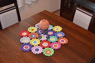 Úžitkový textil - Háčkovaný obrus - 6496866_