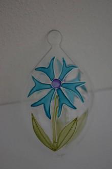 Dekorácie - Kraslica zo skla - nevädza - 6497454_