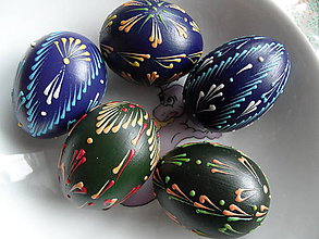 Dekorácie - tmavé vajíčka - 6498139_