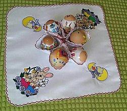 Iné doplnky - Veľkonočný obrus na vajíčka - 6498221_