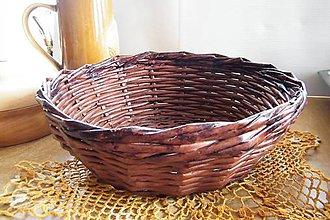 Dekorácie - Papierový  mahagónový košík - 6496054_