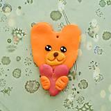 Náhrdelníky - Prívesok zamilovaný medvedík - 6496785_