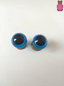 Komponenty - Bezpečnostné oči (pár)- modré 15mm - 6502831_