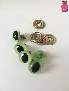 Komponenty - Bezpečnostné oči (pár)- zelené mačacie 12mm - 6502901_