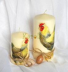 Svietidlá a sviečky - Veľkonočné sviečky - Na dvore - 6501175_