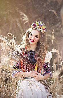 Ozdoby do vlasov - Svadobná kvetinová korunka z kolekcie \