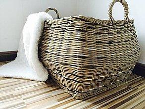 Košíky - Viacfarebný veľký dekoračný kôš - 6502344_