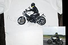 Oblečenie - motorkár na tričku - 6503759_