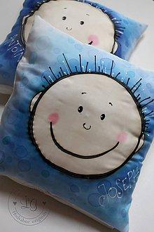 Úžitkový textil - hodvábna obliečka MODRÝ CHLAPEC - 6500470_