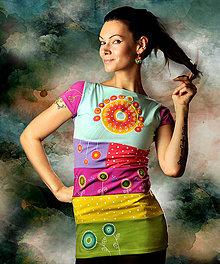 Tuniky - Farebné letné tričko - Patchwork Sunshine - 6501535_