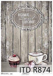 Papier - ryžový papier Home Sweet Home - 6501196_