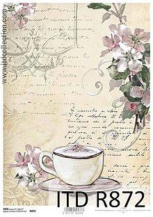 Papier - ryžový papier šálka kávy - 6501289_