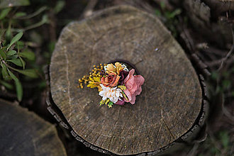 Ozdoby do vlasov - Kvetinová gumička