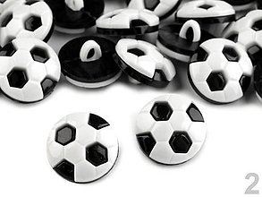 Galantéria - Gombík futbalová lopta - 6503773_