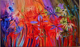 Obrazy - Záhradné kvetinky - 6502634_